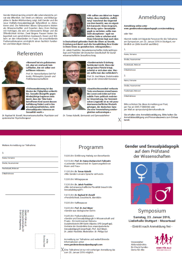 Flyer Symposium am 23.1.16